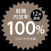 就職内定率11年連続実績100%