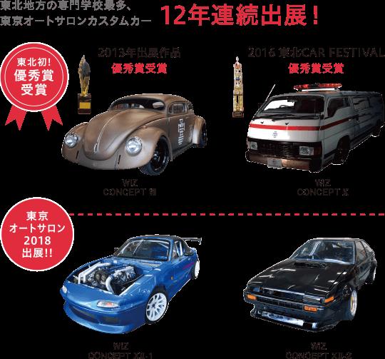 東京オートサロンカスタムカー10年連続出展! 東北初となる優秀賞受賞!