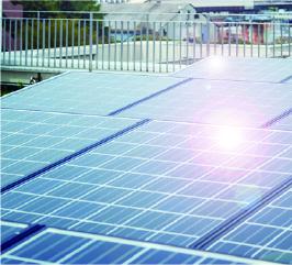 屋上ソーラー発電設備