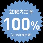 就職内定率H27年度実績100%
