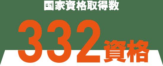 国家資格取得数 332資格