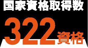 国家資格取得数 322資格