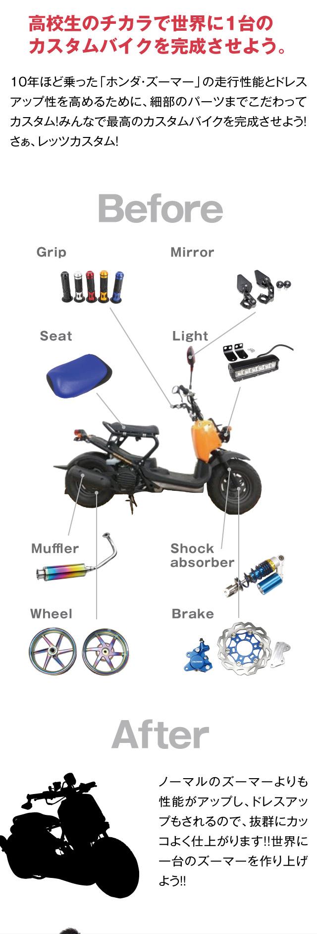 高校生のチカラで世界に1台のカスタムバイクを完成させよう。
