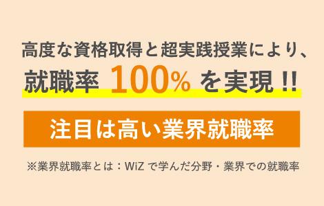 高度な資格取得と超実践授業により、就職率100%を実現!!