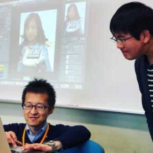 ゲームグラフィック科 似顔絵特別授業③